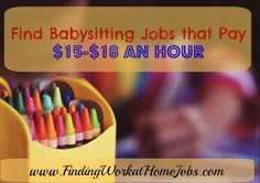 Find Babysitting jobs that pay $15+ per hour