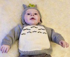 Totoro baby hoodie & mittens