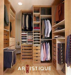 Closets DF, diseña y fabrica Closets tipo Vestidor o Walk in Closets, creando espacios armoniosos y ordenados...!