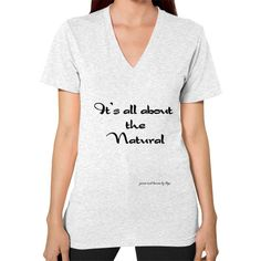 All About the Natural V-Neck (on woman)