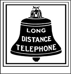 Bell System hires 1889 logo - Bell System - Wikipedia Telephone Booth, Vintage Telephone, Bell Logo, What Is Great, Making Connections, Old Phone, Historical Pictures, Long Distance, Decorative Bells