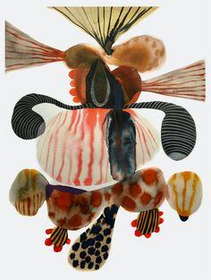 Abstract Watercolor, Abstract Art, Bio Art, Art Plastique, Zine, Art Lessons, Art Inspo, Graphic Art, Sketches