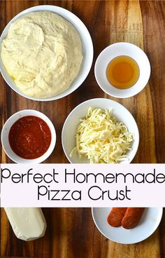 Perfect Homemade Pizza Crust | Check out this tasty recipe for a great pizza crust A! #diy, #recipes, #food