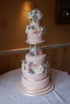 Sugar Flower Wedding Cake by Cakes by Occasion, via Flickr
