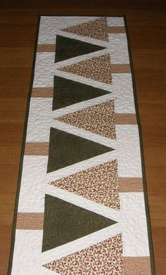 Christmas Quilted Table Runner Christmas Tree Table Runner