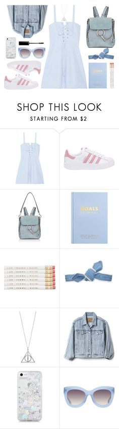 """Campus Chic: First Day Of School"" by julielehenka ❤ liked on Polyvore featuring Solid & Striped, adidas Originals, Chloé, kikki.K, Colette Malouf, Gap, Skinnydip, Alice + Olivia and BackToSchool"