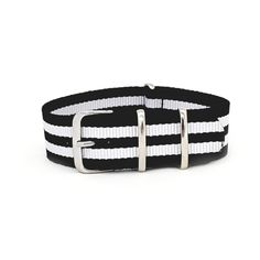 09f2e3dbdff Striped Black   White - NATO Watch Strap - The Urban Gentleman - Watch  Straps Australia
