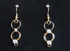 Silver and Gold Chainmaille Earrings