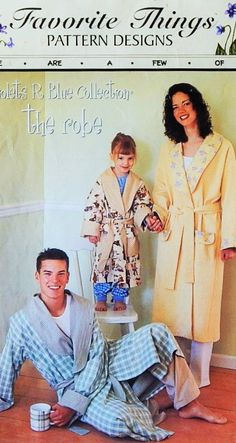 Robe Pattern  Pattern has 3 Child's Sizes and 4 Adult
