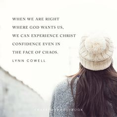 Nothing builds our confidence like doing fearsome things with    God. Doing scary things with God is the action where the seed   of confidence is planted. This is the perfect condition for Christ Confidence to grow. When we depend on Him, a deep assurance   can settle in our soul, even though we are still scared. Even in   chaos, when we know we are right where God wants us, we can   experience His confidence.   #MakeYourMoveBook