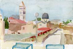 Jerusalem 2014 watercolour on paper 26 x 18 cm Jerusalem, Watercolour, Paper, Painting, Art, Palestine, Pen And Wash, Art Background, Watercolor Painting