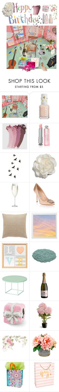 """Today is my birthday ;)"" by chigera ❤ liked on Polyvore featuring Gucci, Christian Dior, Cara, Crate and Barrel, Manolo Blahnik, National Tree Company and Celebrate Shop"