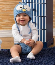 Cutie Blue Bird Hat & Diaper Cover