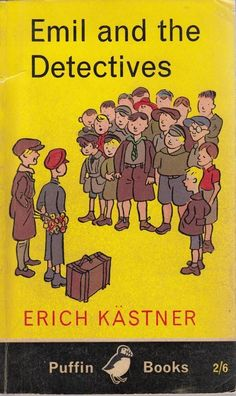 """Emil and the Detectives - by Erich Kästner, illustrated by Walter Trier - PB Ed. Puffin, 1972 ~~~ English edition of the German book """"Emil und die Detektive"""" >  http://www.pinterest.com/pin/326229566729867436/"""