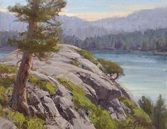 Above Emerald Bay by Jean LeGassick Oil ~ 8 x 10