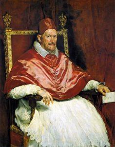 Velazquez, Portrait of Pope Innocent X, 1650  Retrato del Papa Inocencio X. Roma, by Diego Velázquez