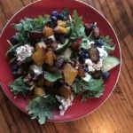 Roasted Golden Beets, Walnuts & Blueberry Salad