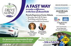 Have you registered yet?  We are so excited about this new event that will help children that includes fast cars, gourmet dining, live auction, and exquisite art. #DriveandDine