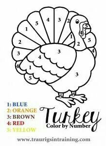 a fun and simple color by number page for thanksgiving and other fun and free thanksgiving coloring pages ms