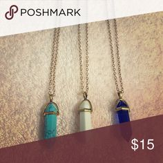 Crystal necklaces on gold Brand new with gift box. Only from the best, TrueCharma.com Jewelry