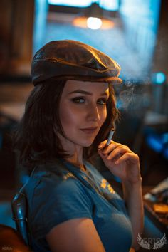 Fallout 4 cosplay - Piper portrait by on DeviantArt Fallout 4 Piper, Fallout Meme, Fallout Fan Art, Fallout Concept Art, Fallout New Vegas, Fallout Props, Amazing Cosplay, Best Cosplay, Cosplay Fallout