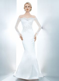 ELANOR - Wedding Gown / 2013 Collection - by Matthew Christopher - Available colours : White & Off White