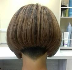 Beauty Tips, Beauty Hacks, Hair Beauty, Bob Haircuts, Short Hairstyles, Asian Bob, Dark Bob, Shaved Nape, Short Bobs