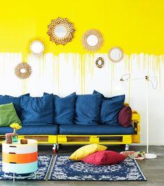 Tee kuormalavoista sohva. DIY pallet sofa.   Unelmien Talo&Koti Kuva: Timo Villanen Toimittaja: Anette Nässling