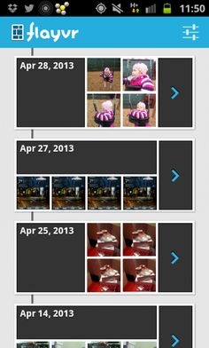 Flayvr for Android automatically creates photo & video albums from the camera roll