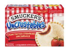 Smuckers Uncrustables Peanut Butter and Strawberry oz Frozen Meals, Frozen Desserts, Cereal Recipes, Snack Recipes, Smuckers Uncrustables, Jam Sandwiches, Chicken Snacks, Junk Food Snacks, Strawberry Jam