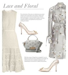 """""""Lace and Floral"""" by bliznec ❤ liked on Polyvore featuring Giambattista Valli, Brock Collection, Dolce&Gabbana and ZAC Zac Posen"""