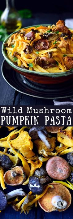 Vegan pumpkin pasta sauce with wild mushrooms is an easy and healthy recipe filled with the flavours of autumn. An easy 4-ingredient pumpkin sauce tossed with pasta and topped with sautéed mushrooms, garlic and herbs will give you a filling and delicious