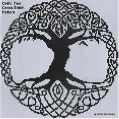 Yggdrasil cross stitch pattern