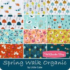 Spring Walk Organic Fat Quarter Bundle Little Cube for Cloud9 Fabrics - Fat Quarter Bundles   Fat Quarter Shop