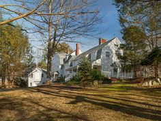 On nearly 3 acres, this classic shingle-style home built in 1885, is on a private hilltop & a short walk to York Harbor Beach.  5,164SF of living space includes a summer kitchen, master suite w/ balcony & guest quarters. Features include wood floors, five fireplaces, two staircases & original architectural details. Updated in 1924 & since 1989, the property features a 2-story barn, children's playhouse & wrap-around porches. Extensive landscaping & stone walls add to its old world essence.