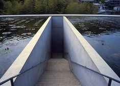 Honpukuji water temple designed by Tadao Ando Water Architecture, Beautiful Architecture, Architecture Details, Interior Architecture, Tadao Ando, Osaka, Stairs To Heaven, Water Temple, Structured Water
