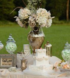gatsby style weddings | Gatsby Style Wedding - candy table,dessert table,gatsby wedding ...