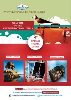 Holidays of India, Customized Holidays, Corporate Travel, Visa & Passport, Cruise Holidays, Honeymoon Tours http://avventurotravel.in/