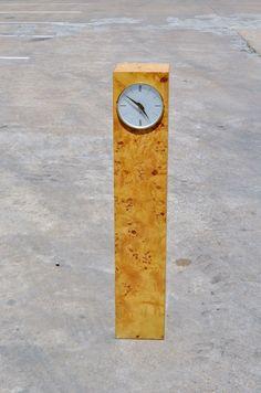 Raymor Vtg Mid Century Modern Burl Wood Pedestal Table Floor Clock Kienzle   eBay
