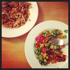 Sweet potato hash with Chevre and crushed red pepper // the sparkle kitchen