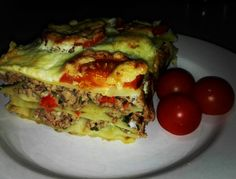 Lasagna Lasagna, Quiche, Good Food, Breakfast, Ethnic Recipes, Morning Coffee, Quiches, Healthy Food, Lasagne