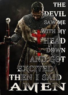 And he didn't like my choice of words, either. Warrior Quotes, Prayer Warrior, Bible Scriptures, Bible Quotes, Faith Quotes, Christian Warrior, Military Quotes, Spiritual Warfare, Knights Templar