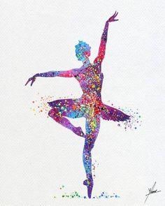 Ballet Dancers Art Print Black Crop Top Ballerina Artwork Organic Cotton Cutoff T-shirt Silhouette Watercolour Painting Screen Printed Tee