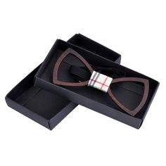 Handmade Wood Bowties For Men Hollow out Geometric