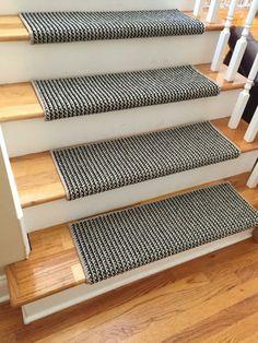 teppich treppen stufenmatten idee einfach kleben rutschfest