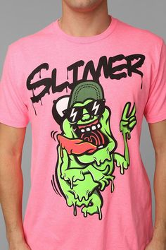 Slimer Tee #urbanoutfitters My brother would love this!