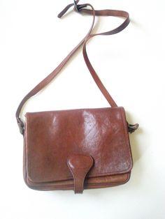 Vintage Chestnut Rich Italian Leather McCurdy's Shoulder Bag / Vintage Purses. / Vintage Finery by JulesCristenVintage on Etsy