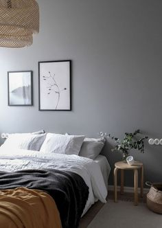 Home Interior Decoration Gray is the New Black. Get Inspired By These 100 Gray Bedroom Designs! Interior Decoration Gray is the New Black. Get Inspired By These 100 Gray Bedroom Designs! Grey Bedroom Design, Gray Bedroom Walls, Bedding Master Bedroom, Home Bedroom, Neutral Bedrooms, Bedroom Furniture, Bedroom Rustic, Industrial Bedroom, Bedroom Vintage