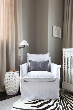 glider // modern baby boy's nursery // camille styles