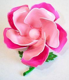 Vintage Pink Flower Enamel Pin